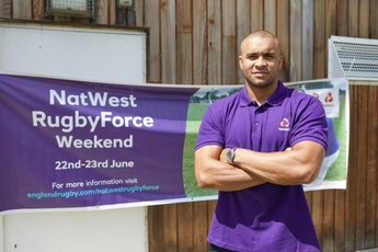 England star Joseph visits Hackney RFC