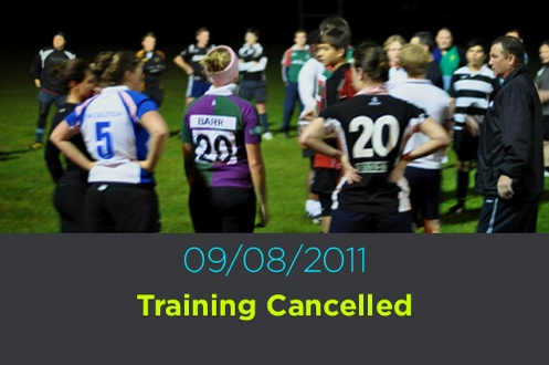 09/08/2011 Training Cancelled