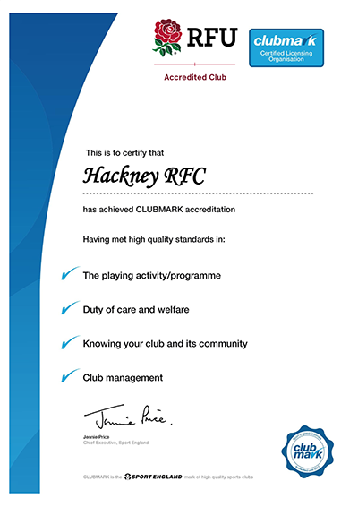Hackney RFC RFU Accreditation